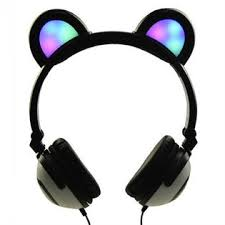 light up cat headphones alphabetdeal 11066 dj style light up cat headphones panda