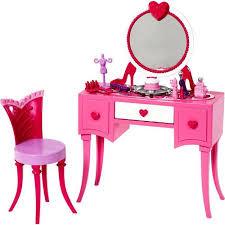 Childrens Play Vanity Barbie Glam Vanity Play Set Walmart Com