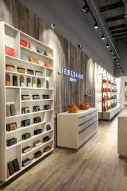 the store features exposed ceilings a manufactured wood planks