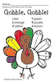 freebie turkey color by number teacherspayteachers