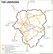 France Rail Map by Limousin Rail Map