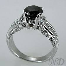 black weddings rings images Antique black diamond engagement ring jpg