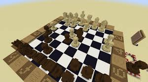 chess redstone command block board in minecraft in