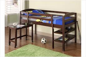 Build A Loft Bed With Desk Bedroom Cool Ana White How To Build A Loft Bed Diy Projects
