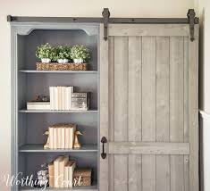 Bookcase Door Hardware Bookcase Makeover Traditional Cherry To Farmhouse Fab