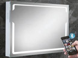 illuminated bluetooth bathroom mirror with built in speakers hib