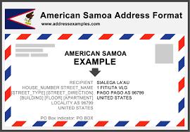 Proper Envelope Address Format by American Samoa Address Format Addressexamples Com