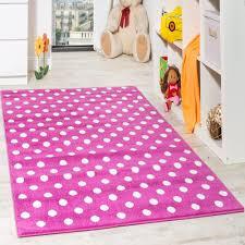 teppich kinderzimmer rosa kinderteppich rosa kinderzimmer teppich spielteppich gepunktet in