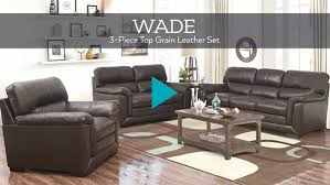Wade Leather Sofa Abbyson Living Room Products