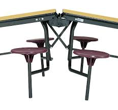 Break Room Table And Chairs by Cafeteria Lunch Room Break Room 12ft Mobile Stool Table Grey
