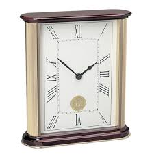 Large Silver Mantel Clock Campus Collections