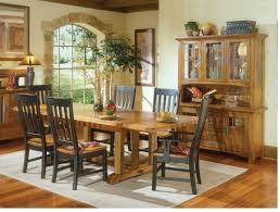 Mission Dining Room Table Rustic Mission Dining Room Furniture Black And Rustic Curved Slat