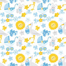 baby boy wrapping paper vector seamless pattern with baby boy strollers sun