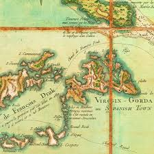 Caribbean Map by Map Of The Virgin Islands 1779 Les Vierges Bvi Usvi