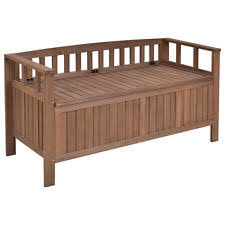 Outside Storage Bench Outdoor Storage Bench Ebay