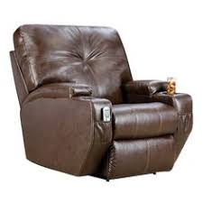 keep your drinks cold with this leather recliner with built in