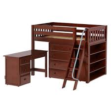 maxtrix kids katching3 low loft bed with storage wayfair