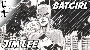 jim lee drawing batgirl during cbldf youtube