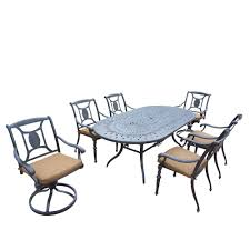 7 Piece Aluminum Patio Dining Set - waterproof patio dining sets patio dining furniture the home