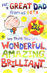no 1 dad from both of us father u0027s day dad card with badge cards