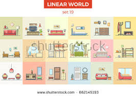 Home Interior Vector by Free Linear Furniture Icons Download Free Vector Art Stock