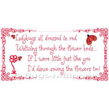 Ladybug Home Decor Decorating With Quote Stickers Kid U0027s Room Vinyl Wall Stickers