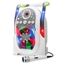 light up karaoke machine the singing machine portable light show karaoke toys r us canada