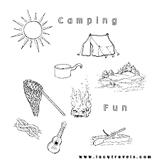 free printable camping coloring pages kids visit webtalkmedia