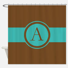 Turquoise And Brown Curtains Turquoise And Brown Shower Curtains Cafepress