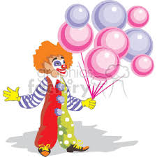 clowns balloons royalty free a clown holding balloons 370514 vector clip image