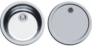 Round Kitchen Sink by Round Kitchen Sink U0026 Drainer With Wastes 450mm Diameter Pyramis