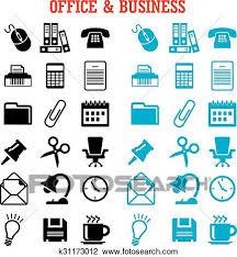 icones de bureau clipart plat business et icônes bureau ensemble k31173012