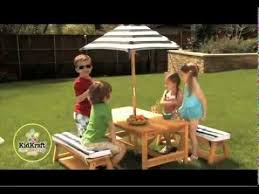 Kids Patio Umbrella Kids Outdoor Furniture Outdoor Table U0026 Chair Set With Cushions