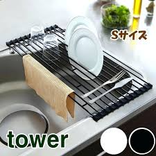 over the sink dish drying rack in sink dish drying rack roll up over sink dish drying rack
