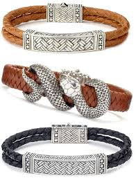 bracelet leather man silver images 8 best mens accesoryes images male jewelry jpg