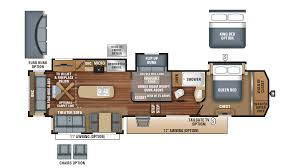 North Trail Rv Floor Plans by New 2018 Jayco North Point 377rlbh 9190