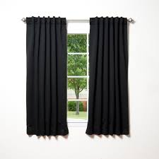 amazon com best home fashion thermal insulated blackout curtains amazon com best home fashion thermal insulated blackout curtains back tab rod pocket black 52