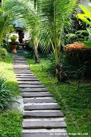 railroad tie garden path ideas
