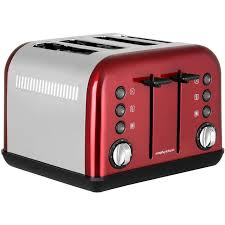 Morphy Richards 2 Slice Toaster Morphy Richards Accents 1880w 4 Slice Toaster Red 242030