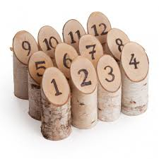 discount wedding supplies birch woodburned table numbers set of 12 birch