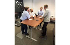 Height Adjustable Meeting Table Synapse Adjustable Height Conference Table