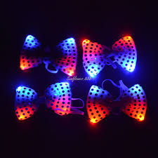 light up bow tie 2018 led flashing neck tie women men light up bow tie dancing