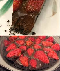 gluten free dairy free chocolate ganache with strawberries