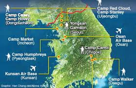 Korea On Map Us Military Bases In South Korea On Map Download Map Usa Military