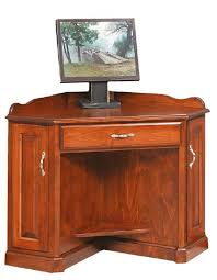Amish Computer Armoire Corner Computer Armoire