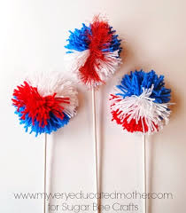Memorial Day Decor Diy Patriot Day Pom Pom U2013 Cheap Craft For Kid U0026 Easy Party Decor