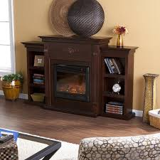 amazon com sei tennyson electric fireplace with bookcases