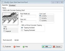 add or modify an open web steel joist with metal decking roof
