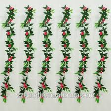 artificial jewelweed flower garland faux rattan