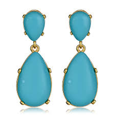 turquoise drop earrings kenneth turquoise cab earrings hauteheadquarters